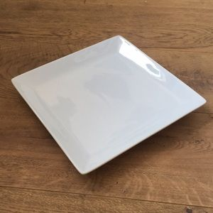 Pottery Barn Great White Square Dinner Plate Tray